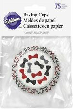 New Wilton 75 Count Bow Tie Cupcake Baking Cups tux party doctor who 415-2844