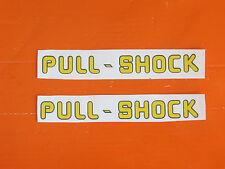 COPPIA ADESIVI PULL - SHOCK x ANCILLOTTI FORCELLONE POST. / Old Sticker Vintage
