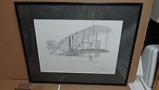 WILBUR AND ORVILLE WRIGHT BROS DRAWING PRINT KITTY HAWK'FLYER(1903)SIGNED