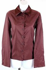 Prada - Burgundy Purple Long Sleeve Silk Button Down Shirt Blouse - Size 42 / 8