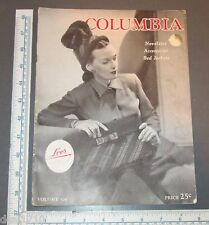 COLUMBIA NOTIONS MAGAZINE 1945 WOMENS ACCESSORIES BELTS PURSES HATS GLOVES