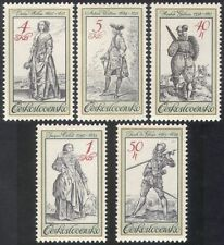 Czechoslovakia 1983 Military Uniforms/Traditional Costumes/Clothes 5v set n39415