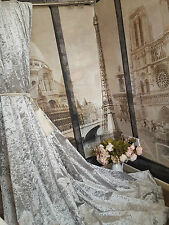 """NEW! Heavenly Heavy Ice Grey Crushed Velvet 93""""D 52""""W Cotton Lined Curtains"""
