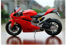 1/12th Scale Diecast Motorcycle Sport Bike Model Red For Ducati 1199 Panigale