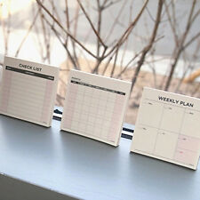 3 pcs Mini Desk Month/Weekly/Check List Journal Schedule Planner Memo NotePaper