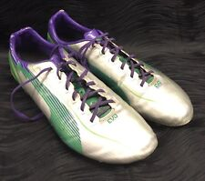PUMA Mens Soccer Cleats evoSPEED Silver Green Violet Size 10.5
