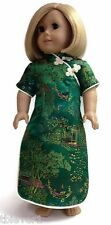 """Green Asian Dress made for 18"""" American Girl Doll Clothes"""