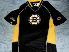 "BOSTON BRUINS EMBROIDERED NHL ""MAJESTIC"" SEWN LOGOS JERSEY/SHIRT MENS SMALL NEW"
