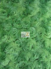ROSE/ROSETTE MINKY FABRIC - Kiwi Green - BY THE YARD BABY SOFT BLANKET FUR