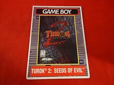 Turok 2 Seeds of Evil Nintendo Game Boy Vidpro Promotional Display Card ONLY