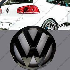 LUCIDO VOLKSWAGEN VW GOLF MK6 VI POSTERIORE NERO LUCIDO Badge Logo Emblema Boot 110mm