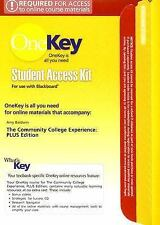 The OneKey Blackboard, Student Access Kit, The Community College Experience, PLU