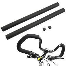 2pcs Black MTB Bike Bicycle Handlebar Grip Smooth Sponge Foam Tube Cover F7