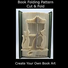 Book Folding Pattern - Cut & Fold - Cats on Windowsill