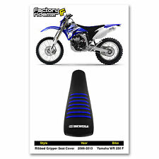 2006-2013 YAMAHA WR 250 F Black/Blue RIBBED SEAT COVER by Enjoy MFG