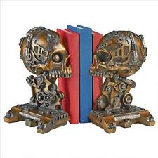 Industrial Age Mechanical Steampunk Robot Zombies Cybernetic Skeleton Bookends
