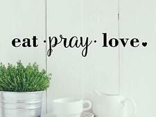 EAT PRAY LOVE Kitchen Diner Cafe Religious Quote Vinyl Wall Decal Words