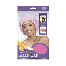 Qfitt Large Satin Sleep Cap Comfortable Elastic Band Night Hair Caps #150 Assort