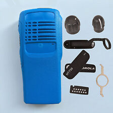 Blue Replacement Repair Kit Case Housing cover for Motorola HT750 Portable Radio