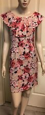 "Alannah Hill ""My Flower Bomb Frock"" Stretchy Silk Blend Sz 8 Fully Lined"
