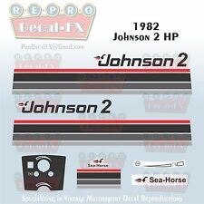 1982 Johnson 2 HP Sea-Horse Outboard Reproduction 13 Pc Marine Vinyl Decals