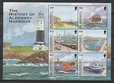 GB ALDERNEY 2012 History of Alderney Harbour/RNLI SG MSA473 MNH SHIPS LIGHTHOUSE