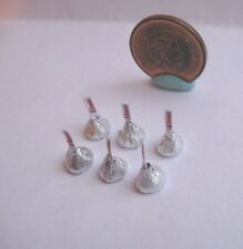 6 x DOLLHOUSE BARBIE MINIATURE CHOCOLATE CANDY KISSES 1:6 OR 1:12 SCALE