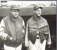 NEW YORK YANKEES BABE RUTH LOU GEHRIG CLASSIC IN WARM UP JACKETS BEFORE GAME