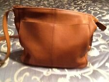 Duluth Trading Co. Women's Cognac Colored Leather Sling Handbag Pocketbook
