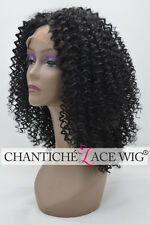 Afro Kinky Curly Wigs Synthetic Hair Heat Safe Lace Front Wig For Black Women
