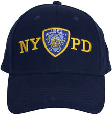 Navy Blue Official NYPD Emblem Logo Baseball Hat Adjustable Cap