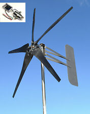 Wind Turbine 5 Blade MORE POWER! 1645W 12VDC 2/wire 14-SC PMA 6.3 kW W/REG USED