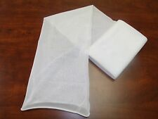 Lot of 3 Micro Mesh Fabric 8' Tubes Sleeves Elastic Sleeving Netting Arts Crafts