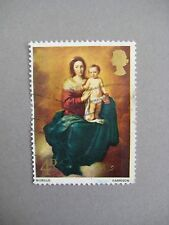 Vintage collectible stamp, Christmas Painting 4D, GB 1967, Used