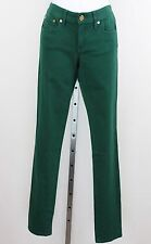 NWT Tory Burch Green Super Skinny Leg Low-Rise Jeans Pants Size 00/24