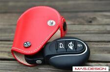 Red Genuine Leather key cover for Mini Cooper S F56 F55 F54 JCW Keyless