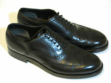 Brioni mens black leather oxford shoes NEW wingtip Italy Goodyear welt 10EU-11US
