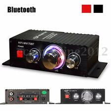 15W*2 CH Bluetooth Car Home Mini HIFI Stereo Audio Power Amplifier AMP Bass MP3