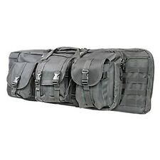 "NcStar Vism Tactical 36"" Padded Double Carbine Rifle Weapons Case Bag Urban Gray"