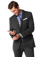 Banana Republic Tailored-Fit Charcoal Italian Wool Suit  Size 46R 35x36 $550.00