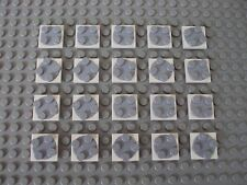 Lego Minifig ~ Lot Of 20 Gray/White Base Turntables 2x2 Thin Plate Spinning #bg6