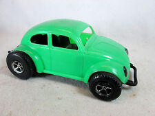 Vintage 1970s green plastic Volkswagen VW baja Beetle bug by Gay Toys
