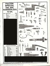 1994 FULTON SPECIAL Double Barrel 12 gauge SHOTGUN Parts List AD