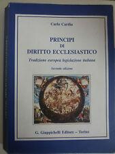 Principi di diritto ecclesiastico - Cardia - Giappichelli - Seconda edizione