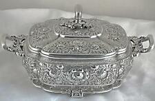 A RARE TIFFANY CHINESE-STYLE STERLING SILVER COVERED DISH, CIRCA 1880, 1502 gr.