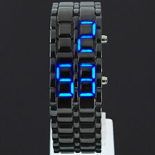 LED Digital data LAVA anonimi Bracciale Iron Samurai Watch Uomo Donna