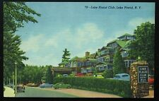 1950's Postcard ~ LAKE PLACID CLUB, New York ~ Black and Jewish Exclusion Policy