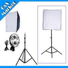 "Photography 50*70cm(20""*28"") Softbox +4 E27 socket holder +220cm light stand"