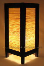 ASIAN HOME, BEDROOM, NIGHTSTAND ZEN DECOR LAMP LIGHT- *BAMBOO WOOD BLIND DESIGN