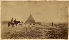 Very rare Rome Campagna Romana Shepherds Small albumen photo from calotype 1860c